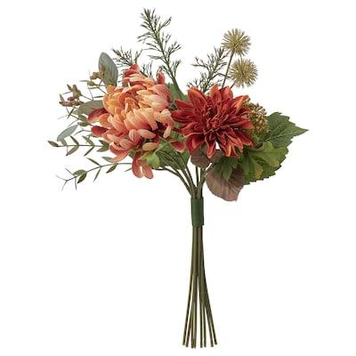 """SMYCKA Artificial bouquet, indoor/outdoor/Chrysanthemums orange, 17 ¾ """""""