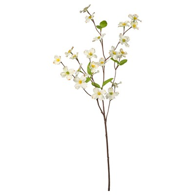 """SMYCKA Artificial flower, indoor/outdoor/Dogwood white, 22 """""""