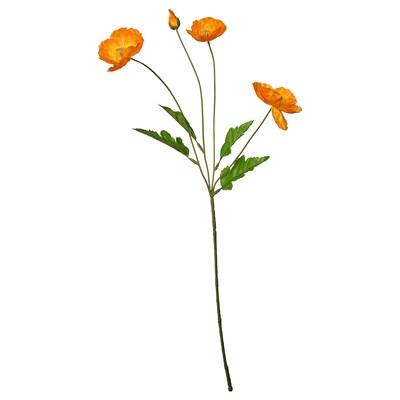 "SMYCKA Artificial flower, indoor/outdoor/Poppy orange, 23 ½ """