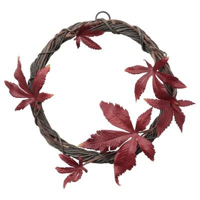 """SMYCKA Artificial wreath, indoor/outdoor red, 8 ¾ """""""