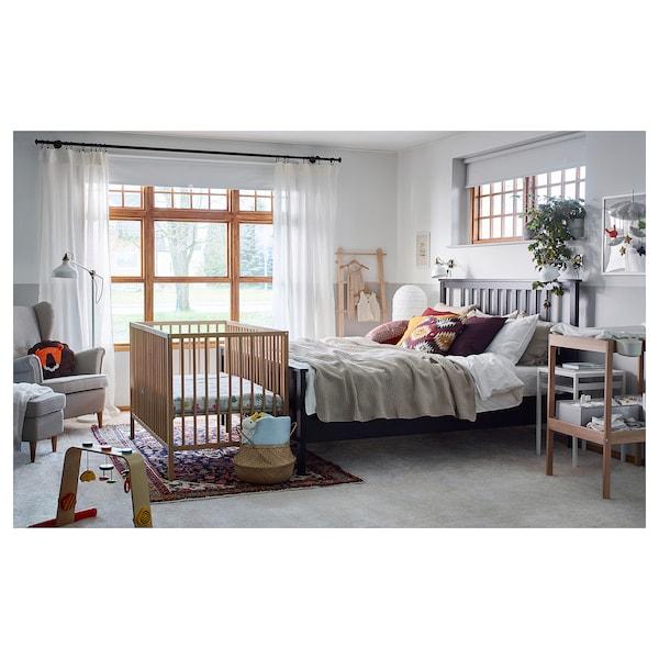 "SNIGLAR Crib, beech, 27 1/2x52 """