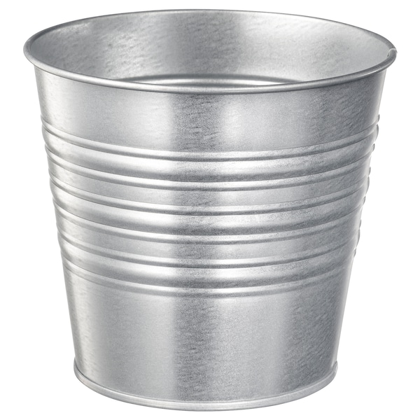 SOCKER Plant pot, indoor/outdoor/galvanized, 4 ¾ ""