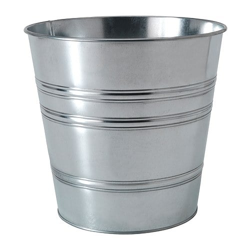 SOCKER Plant pot   Galvanized for rust resistance.