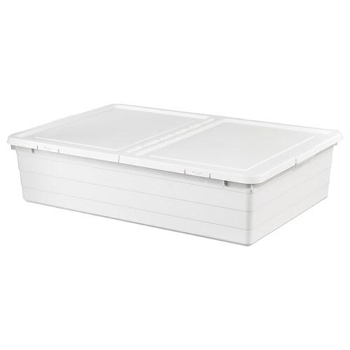 "SOCKERBIT storage box with lid white 30 ¼ "" 19 ¾ "" 7 ½ "" 1860 oz"