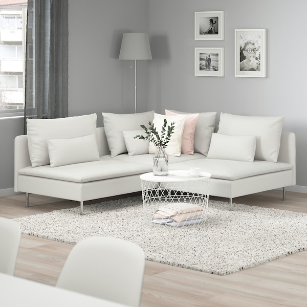 SÖDERHAMN Sectional, 3-seat corner - Finnsta white - IKEA