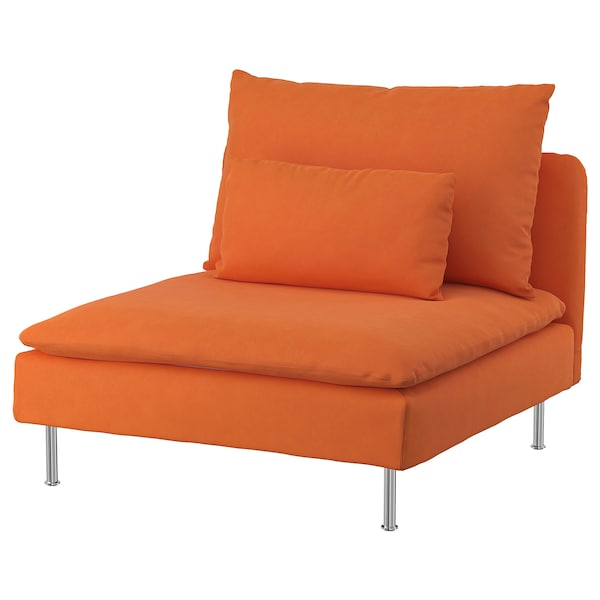 SÖDERHAMN Cover for 1-seat section, Samsta orange