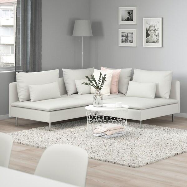 SÖDERHAMN Sectional, 3-seat corner, Finnsta white