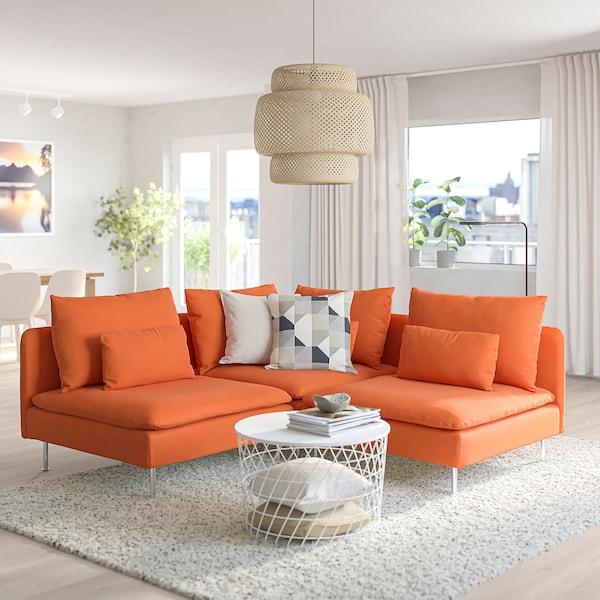 SÖDERHAMN Sectional, 3-seat corner, Samsta orange