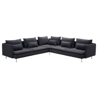 SÖDERHAMN Sectional, 5-seat, Samsta dark gray