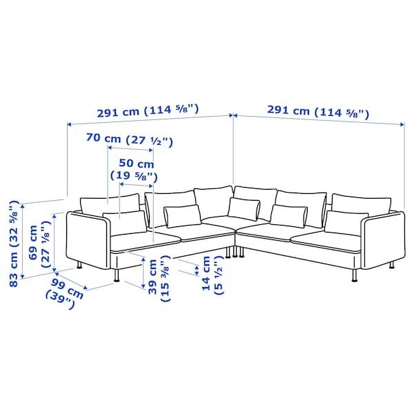 SÖDERHAMN Sectional, 5-seat, Samsta orange