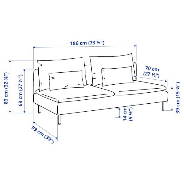 SÖDERHAMN Sofa section, Samsta dark gray