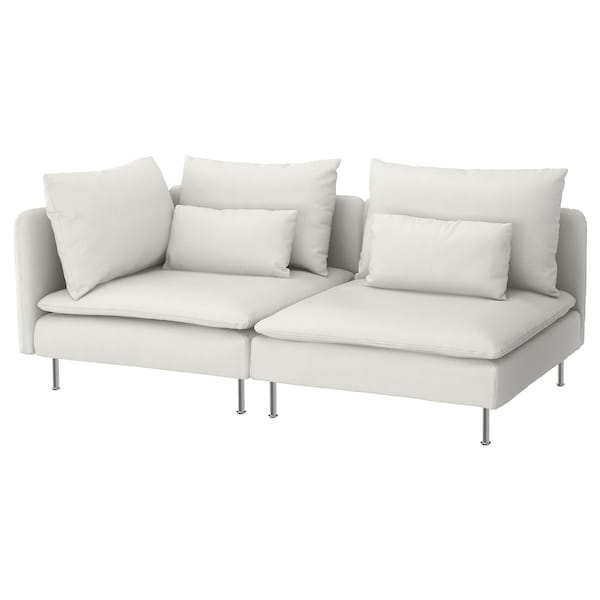 SÖDERHAMN Sofa, with open end/Finnsta white