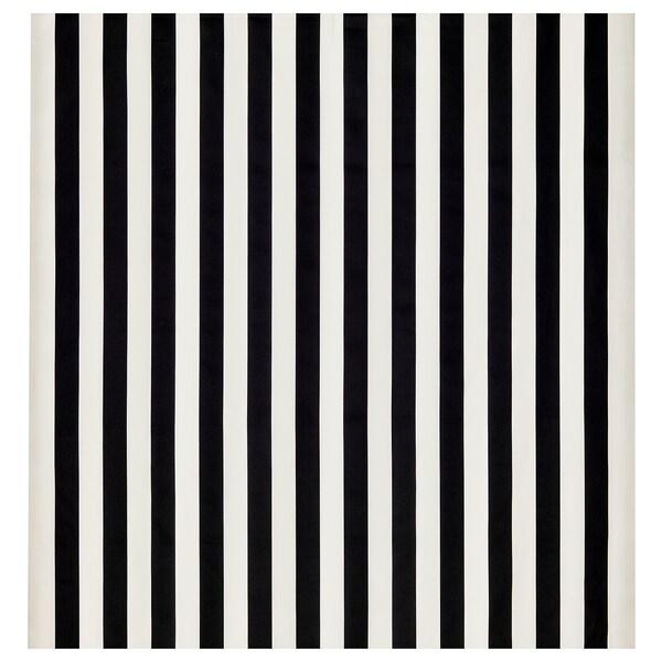 """SOFIA Fabric, wide stripe/black/white, 59 """""""