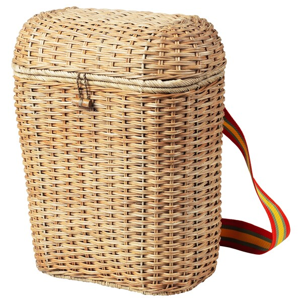 "SOLBLEKT backpack rattan 13 "" 7 "" 16 ½ "" 247 oz 5 gallon"