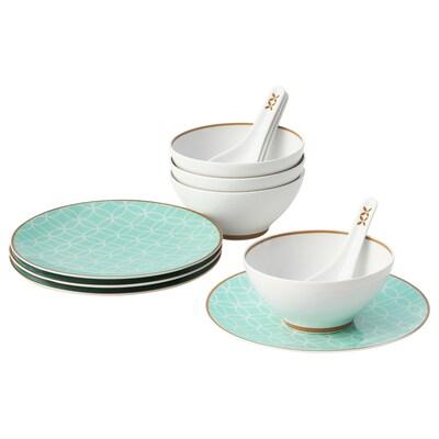 SOLGLIMTAR 12 piece dinnerware set