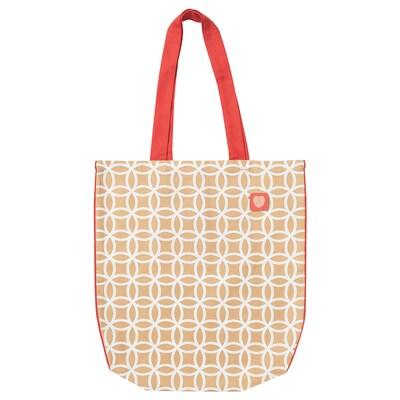 SOLGLIMTAR Bag, white/brown