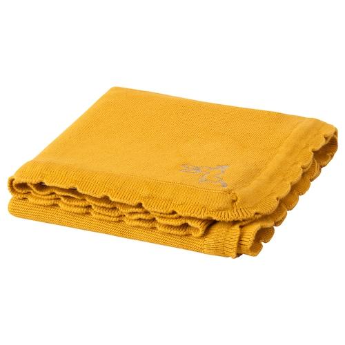 "SOLGUL baby blanket dark yellow 35 3/8 "" 27 1/2 """
