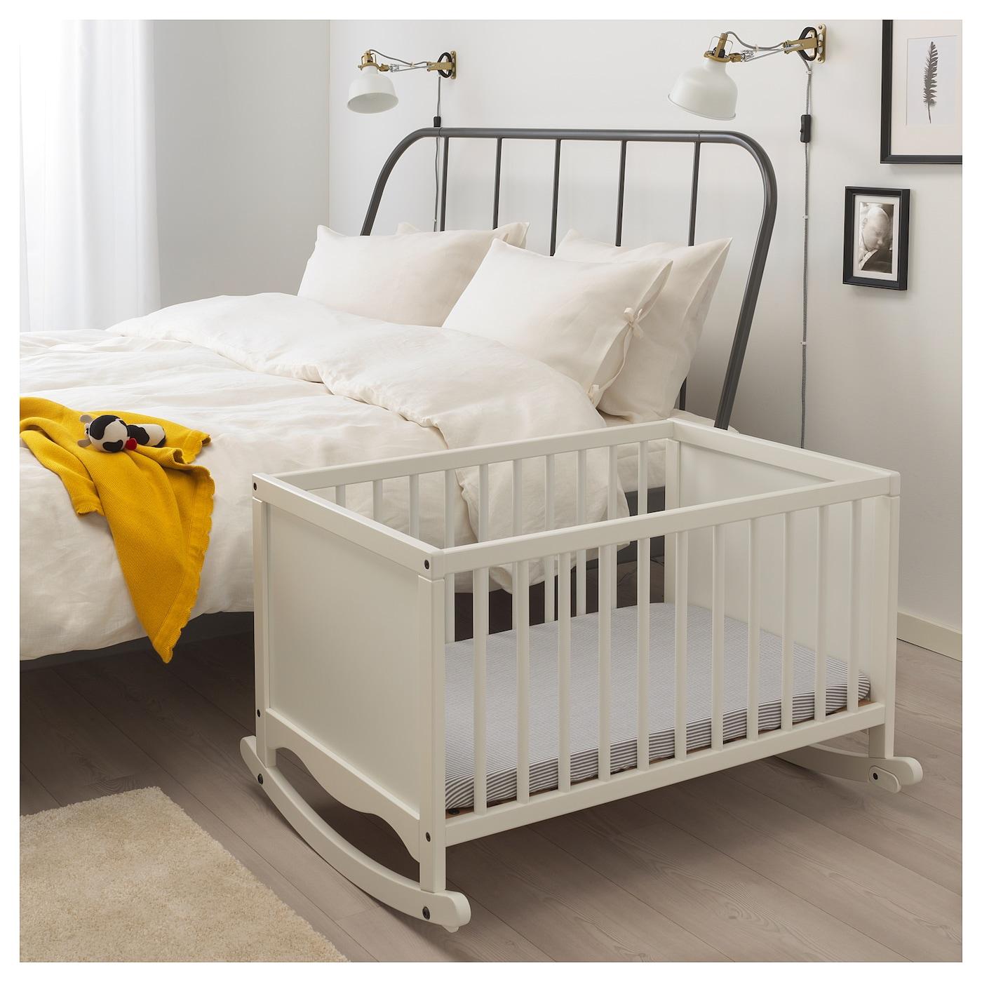 "SOLGUL Cradle with sleeping pad, white, 26x33 1/8 """