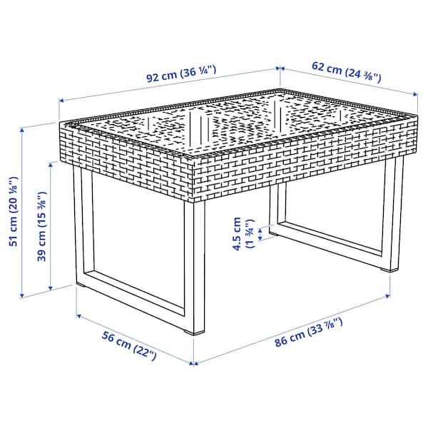 "SOLLERÖN Coffee table, outdoor, anthracite/dark gray, 36 1/4x24 3/8 """