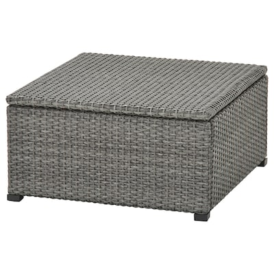 SOLLERÖN Stool, outdoor, dark gray, 24 3/8x24 3/8 ""