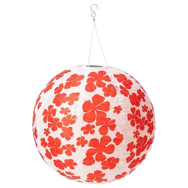 """SOLVINDEN LED solar-powered pendant lamp, outdoor globe/flower, 18 """""""