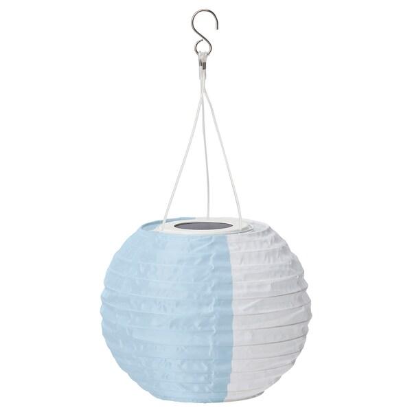 """SOLVINDEN LED solar-powered pendant lamp, white blue/outdoor globe, 9 """""""