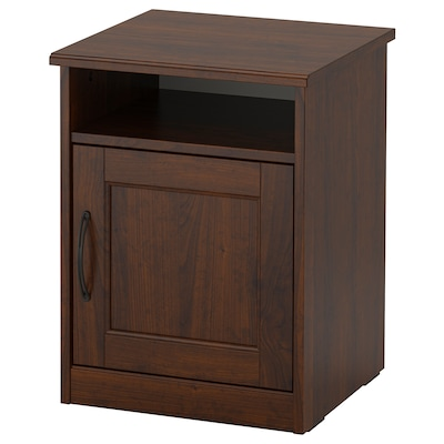 SONGESAND Nightstand, brown, 16 1/2x15 3/4 ""