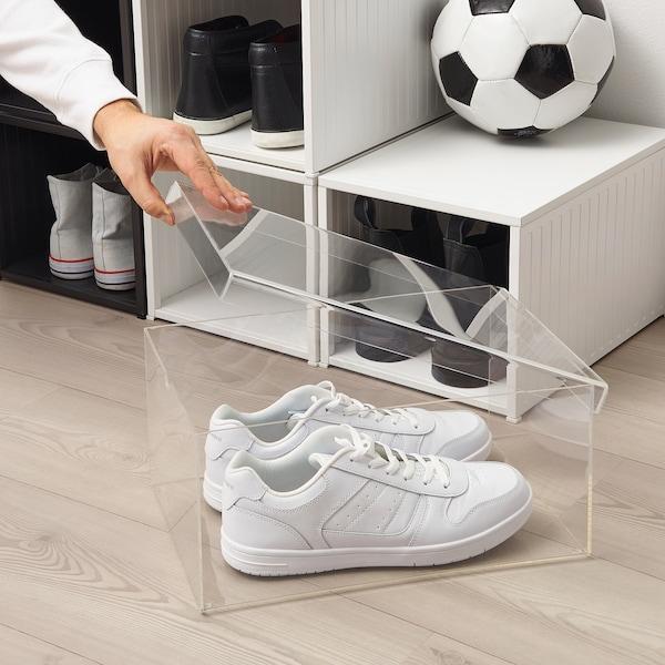 SPÄNST Shoe box, transparent