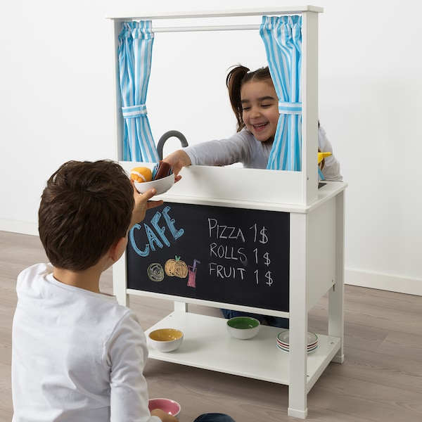 IKEA SPISIG Play kitchen with curtains