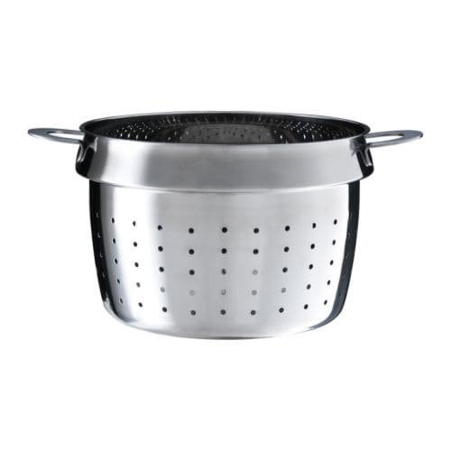 STABIL Pasta insert   Works as a colander as well.  Can be used with most 3 quart pots.