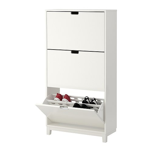 STÄLL Shoe Cabinet With 3 Compartment   White   IKEA Part 36
