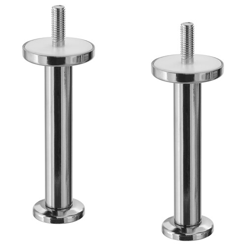 "STALLARP leg chrome plated 1 5/8 "" 1 5/8 "" 3 7/8 "" 2 pack"
