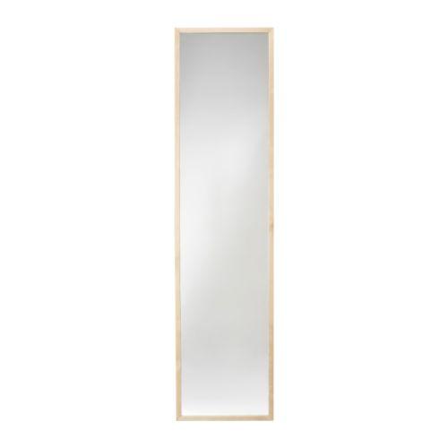Stave mirror birch effect 40x160 cm ikea for Miroir 40x160