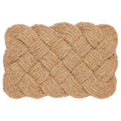 """STAVREBY Door mat, indoor, handmade/braided natural, 1 ' 4 """"x2 ' 0 """""""