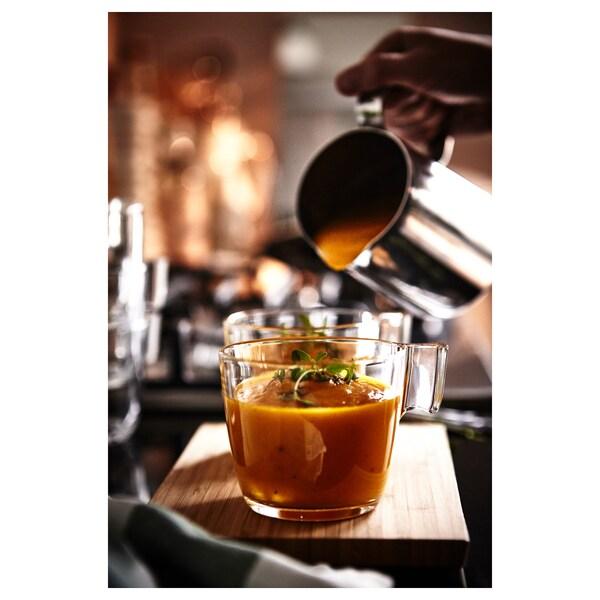 STELNA Mug, clear glass, 8 oz