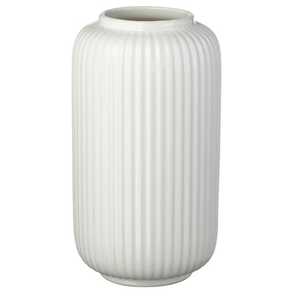 """STILREN Vase, white, 8 ¾ """""""