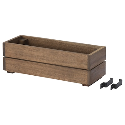 "STJÄRNANIS Flower box, outdoor acacia, 17x6 """