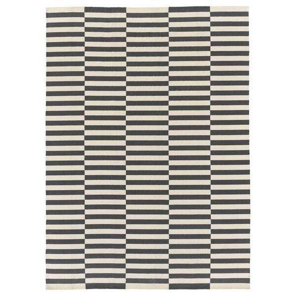 "STOCKHOLM 2017 Rug, flatwoven, handmade/striped gray, 8 ' 2 ""x11 ' 6 """