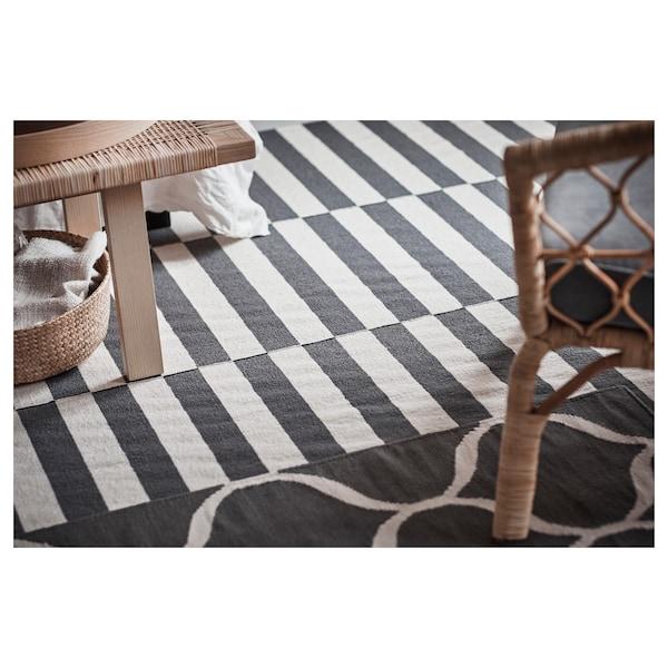 stockholm 2017 rug flatwoven  handmade striped white
