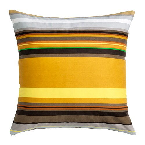 STOCKHOLM Cushion cover IKEA Cotton sateen has a soft, smooth finish with a subtle sheen. The zipper makes the cover easy to remove.