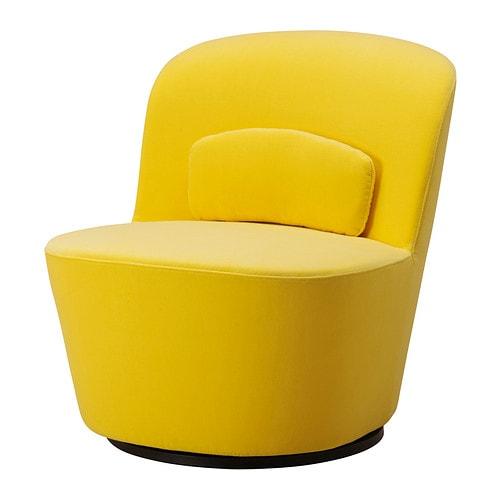 stockholm swivel easy chair sandbacka yellow ikea. Black Bedroom Furniture Sets. Home Design Ideas