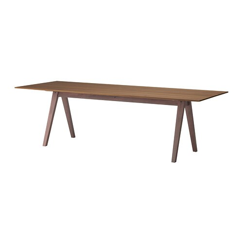 stockholm table the table top in walnut veneer and solid ash legs
