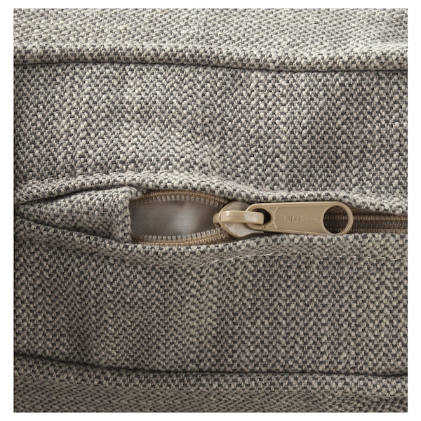 STOCKSUND Armchair, Nolhaga gray-beige/black/wood