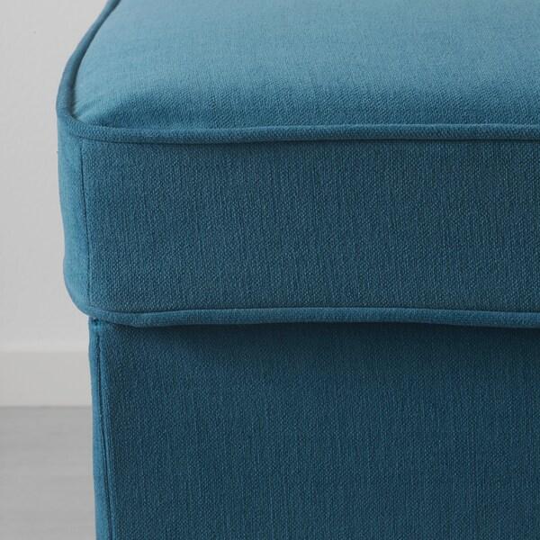 STOCKSUND Bench, Ljungen blue/light brown/wood