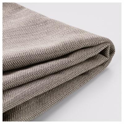 STOCKSUND Cover for loveseat, Nolhaga gray-beige