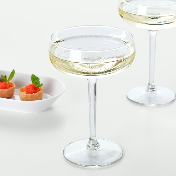 STORHET Champagne coupe, clear glass, 10 oz