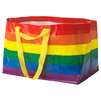 "STORSTOMMA shopping bag, large multicolor 21 ¾ "" 13 ¾ "" 14 ½ "" 2401 oz"
