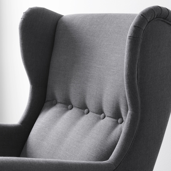 STRANDMON Armchair, Nordvalla dark gray