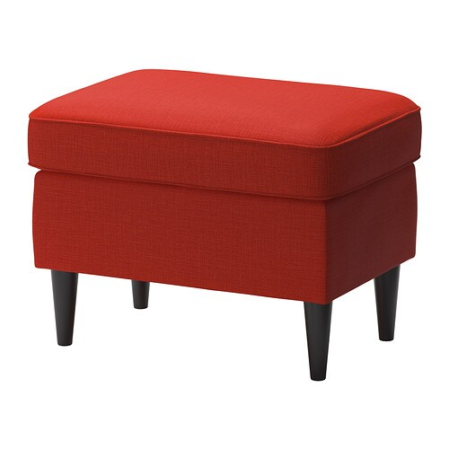 strandmon footstool skiftebo orange ikea. Black Bedroom Furniture Sets. Home Design Ideas