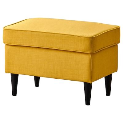 STRANDMON Footstool, Skiftebo yellow